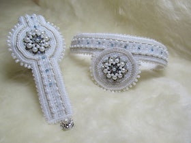 Bead embroidery sieraden