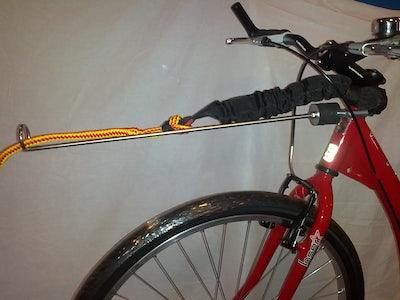 Step/fiets lijn voor 1 hond (compleet met demper)