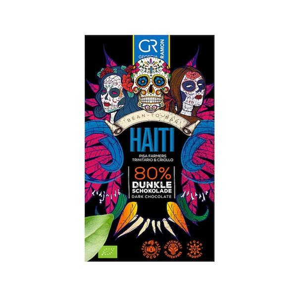 Chocolade - Haiti 80% dark chocolate 50 gram - glutenvrij