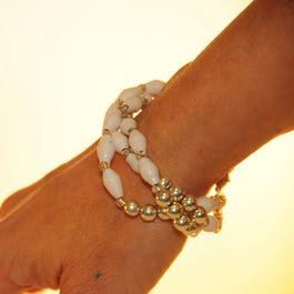Witte armband – 3 armbanden ineen