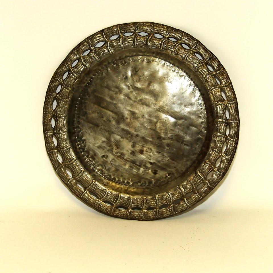 Platte, ronde schaal/dienblad doorsnee 27 cm