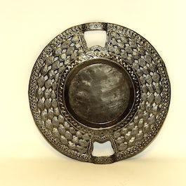 Platte ronde schaal/dienblad doorsnee 18 cm