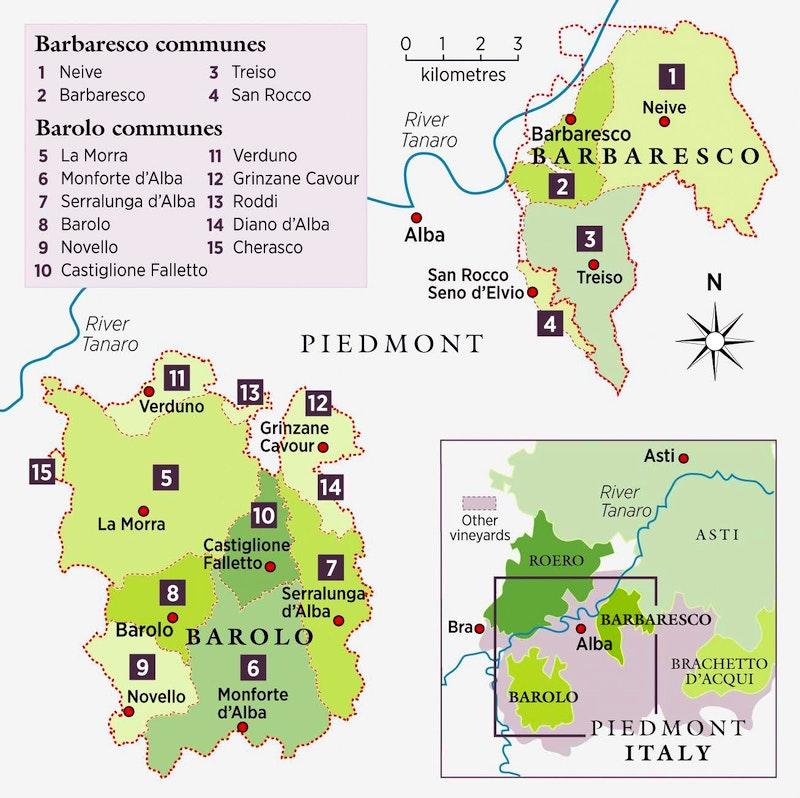 Kaart Barolo