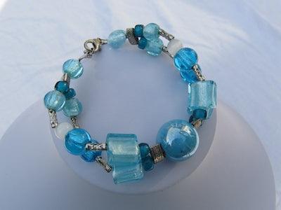 Armband 2 rijen Blauw