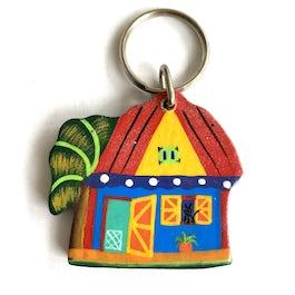 Sleutelhanger hout 'Bananatree house' - SL.008 -