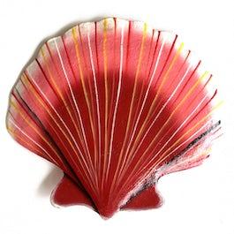 Vrolijk gekleurde schelp van metaalplaat - M.079 -