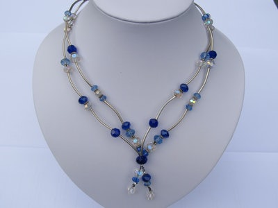 Ketting in blauw-transparant