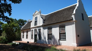 Cape-Dutch architectuur op het wine-estate Boschendal in Franschhoek