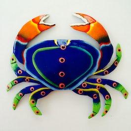 Vrolijk gekleurde krab van metaalplaat - M.028