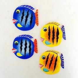 Vissen decoset of onderzetters - set van 4 stuks - OZ.002
