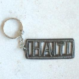 """Sleutelhanger tekst """"Haiti"""" - S.123 -"""