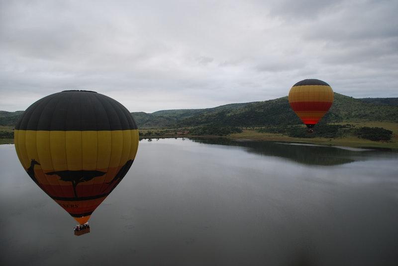 Ballon vliegen boven Pilanesberg