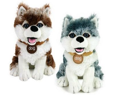 Husky knuffel zittend 25 cm