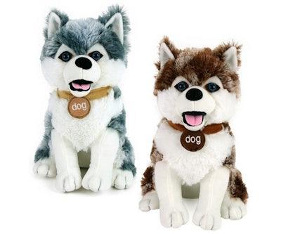 Husky knuffel zittend 32 cm