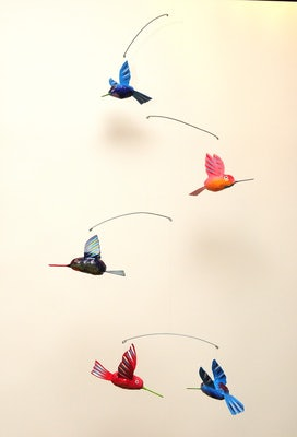 Mobile IV met 5 kolibries