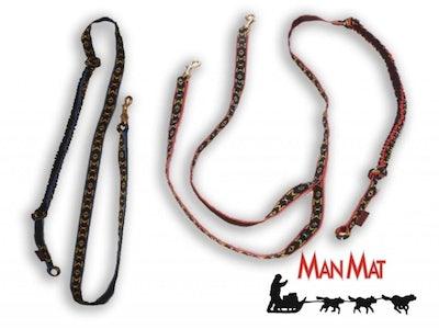 Canicross lijn 2 hond 2,3 meter, uitgerekt ca. 3 meter (wedstrijd)