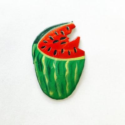 Magneet 'watermeloen metalart' - KM.025 -