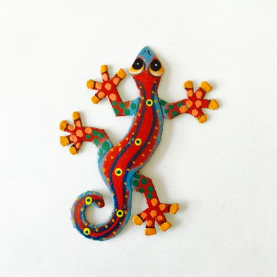 -UITVERKOCHT- Magneet 'gekko' - KM.028 -