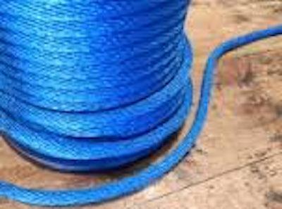 PE touw 6 mm Blauw of Oranje